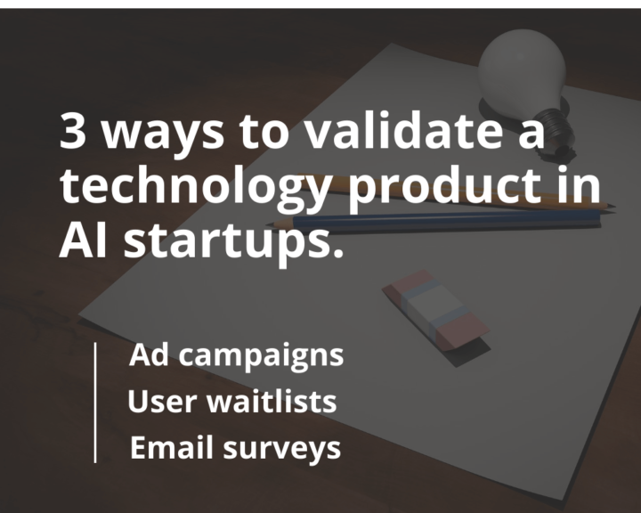 The sense of product validation for AI startups